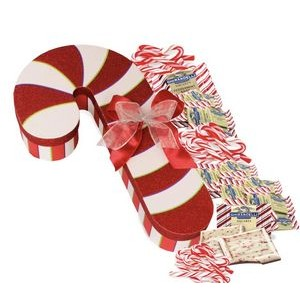 Holiday Candy Cane Gift Box Jumbo 18 inch