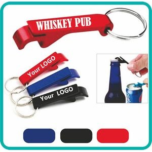 Beverage Aluminum Bottle/Can Opener Key Chains